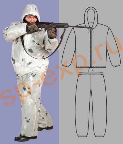 Зимний маскировочный костюм своими руками 23